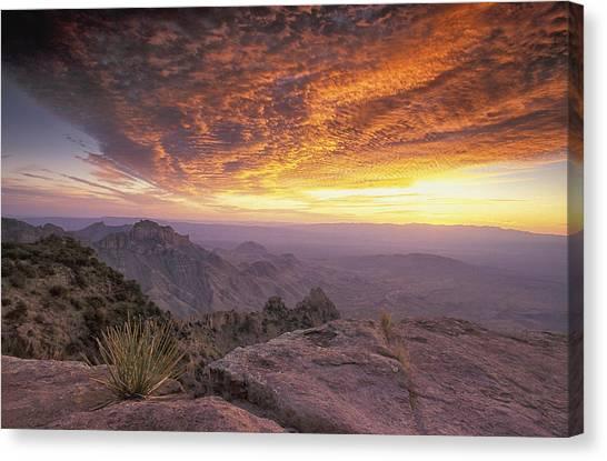 North Rim Canvas Print - Big Bend Sunrise by Christian Heeb
