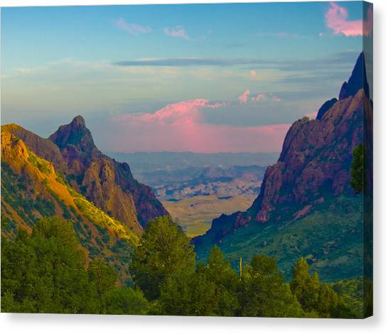 Big Bend Texas From The Chisos Mountain Lodge Canvas Print