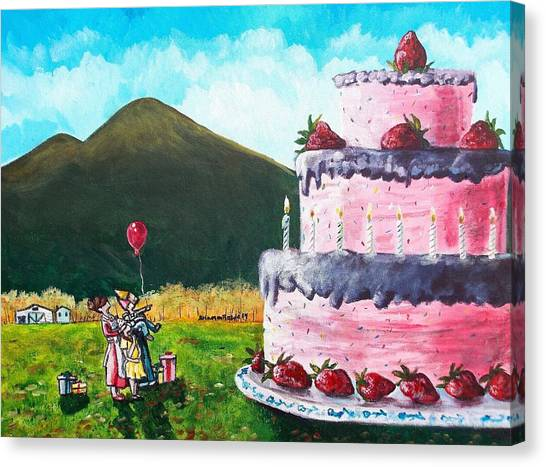 Big Birthday Surprise Canvas Print