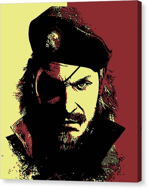 Playstation Canvas Print - Big Boss by Danilo Caro