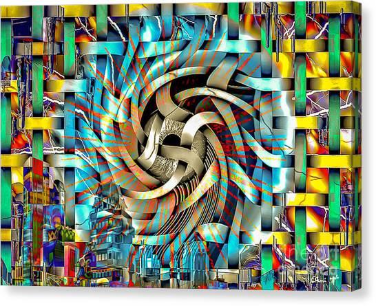 Canvas Print featuring the digital art Big Brother  by Eleni Mac Synodinos
