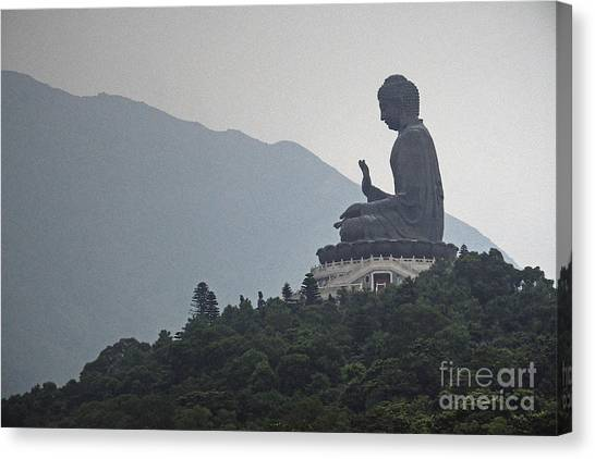 Hong Kong Canvas Print - Big Buddha In Hong Kong by Lars Ruecker