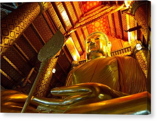 Big Buddha Canvas Print by Zestgolf