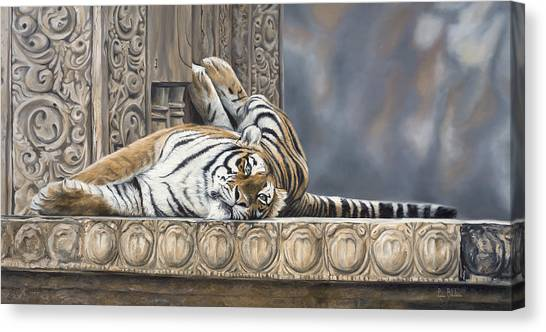 Bengal Tiger Canvas Print - Big Cat by Lucie Bilodeau