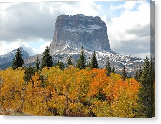 Big Chief Mountain - The Rock Of Legend Canvas Print by Clay and Gill Ross