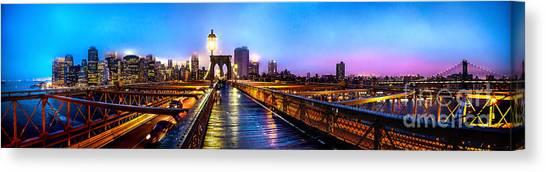 Brooklyn Bridge Canvas Print - Big City Blues by Az Jackson