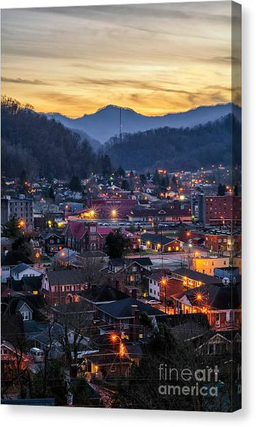 Big City Lights Canvas Print