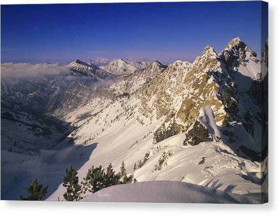 Uinta Canvas Print - Big Cottonwood Canyon At Top Of Mineral by Howie Garber