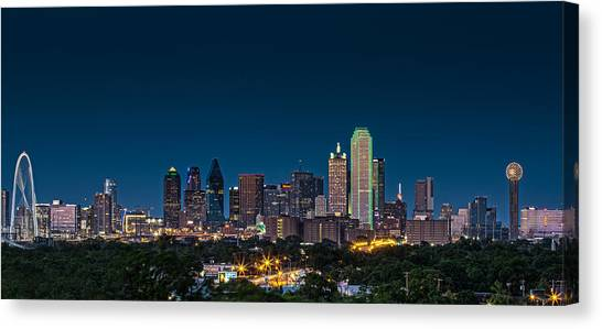 City Landscape Canvas Print - Big D by Meredith Butterfield
