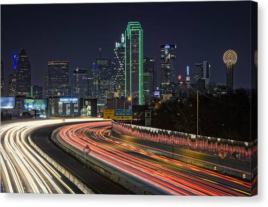 Dallas Skyline Canvas Print - Big D by Rick Berk