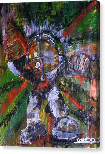 Bioshock Canvas Print - Big Daddy by James Layton
