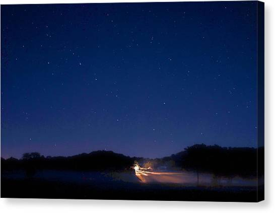 Big Dipper In The Valley Canvas Print by Larry Bodinson