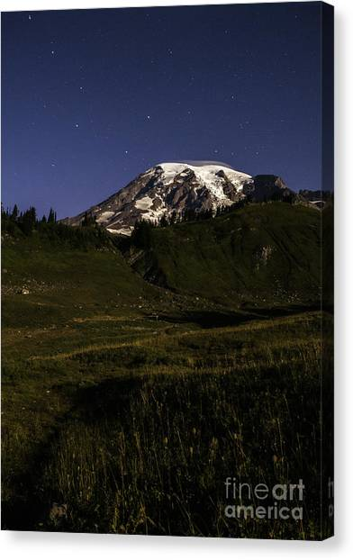 Big Dipper Over Mt Rainier Canvas Print