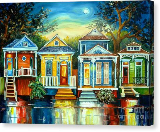 Louisiana Canvas Print - Big Easy Moon by Diane Millsap