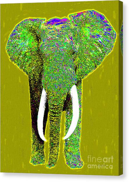 Big Elephant 20130201p60 Canvas Print by Wingsdomain Art and Photography