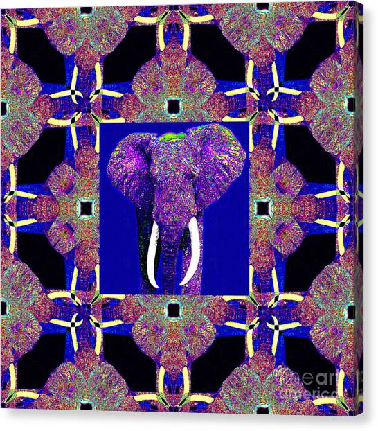 Big Elephant Abstract Window 20130201m118 Canvas Print by Wingsdomain Art and Photography