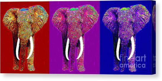 Big Elephant Three 20130201v2 Canvas Print by Wingsdomain Art and Photography