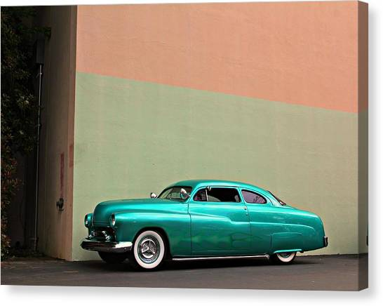 Big Green Merc Just Around The Corner Canvas Print