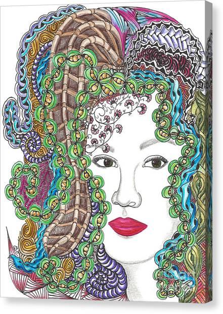Big Hair Color Canvas Print