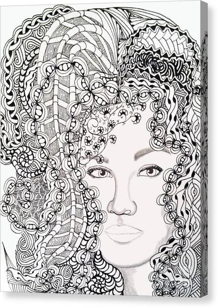 Big Hair Canvas Print
