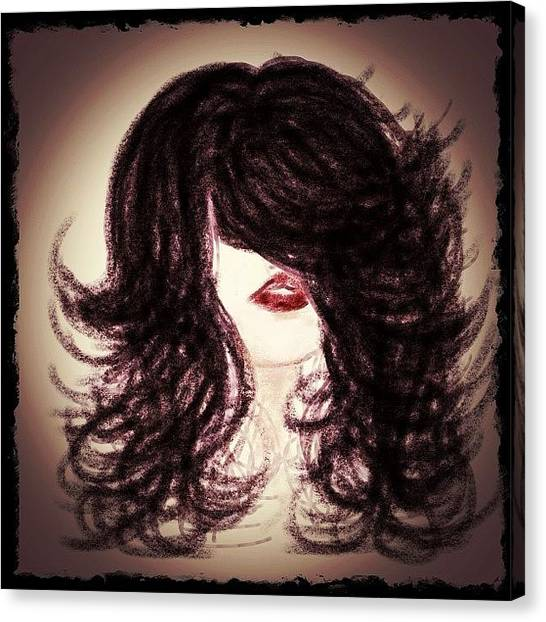 Big Red Canvas Print - Big Hair Rocks by Go Inspire Beauty