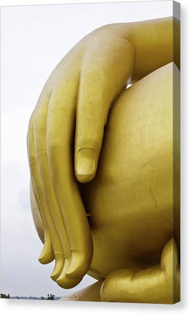 Big Hand Buddha Image Canvas Print