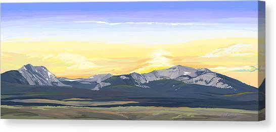 Big Hole Beaverhead Mountains Canvas Print