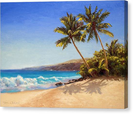 Hawaiian Beach Seascape - Big Island Getaway  Canvas Print