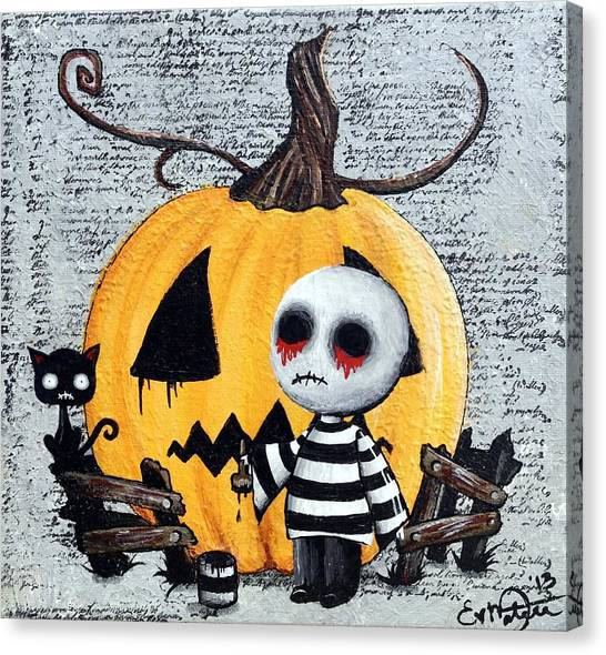 Big Juicy Tears Of Blood And Pain No. 11 The Great Pumpkin Canvas Print