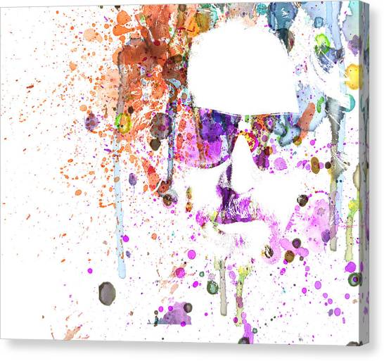 Tv Shows Canvas Print - Big Lebowski Watercolor 1 by Naxart Studio