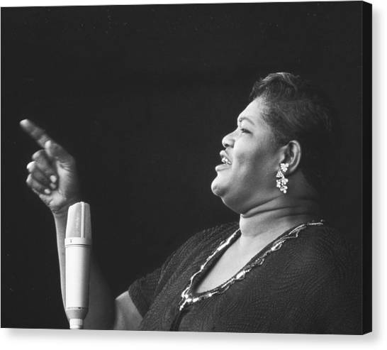 Jazz Canvas Print - Big Mama Thornton At Monterey Jazz Festival D232 by Gary Russell