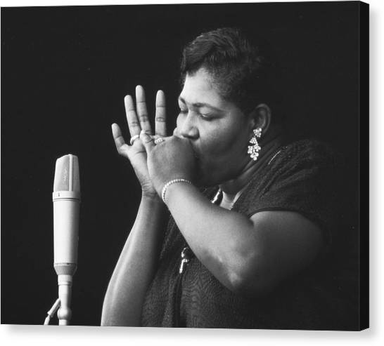 Jazz Canvas Print - Big Mama Thornton At Monterey Jazz Festival D233 by Gary Russell