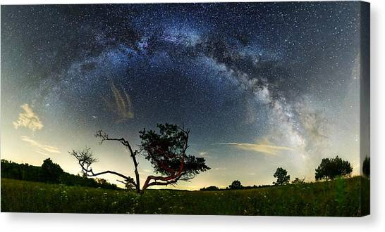 Big Meadows Milkyway  Canvas Print by Andrew Fritz