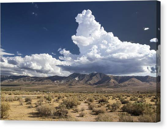 Big Mountains Bigger Clouds Canvas Print