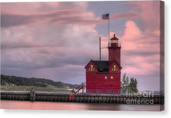 Big Red Canvas Print - Big Red At Sunset by Twenty Two North Photography