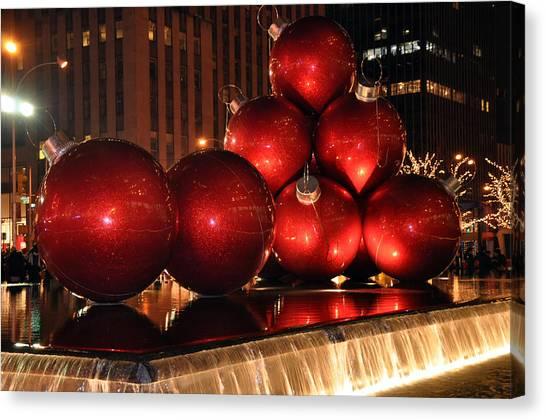 Big Red Balls Canvas Print