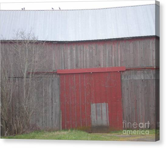 Big Red Barn Door Canvas Print