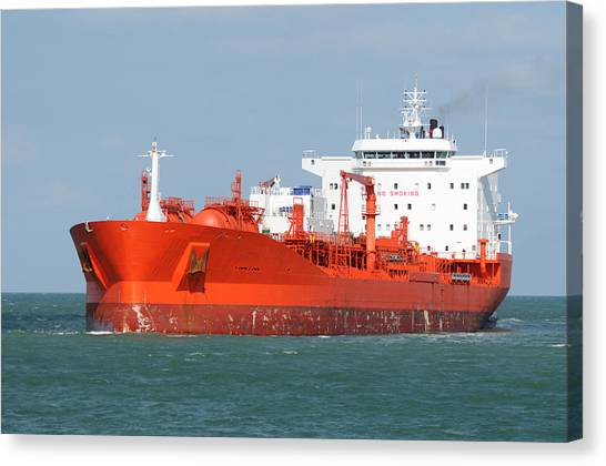 Big Red Tanker Canvas Print