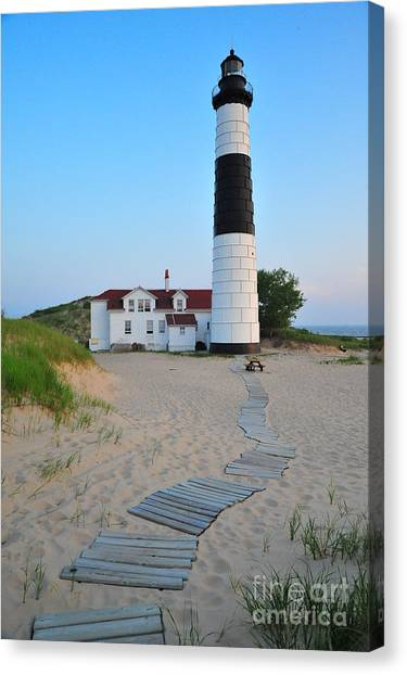Big Sable Point Great Lakes Lighthouse Canvas Print