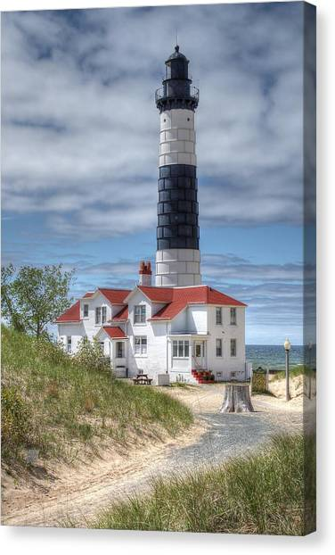Big Sable Point Lighthouse Canvas Print by Bruce Wilbur