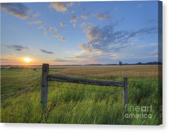 Prairie Sunrises Canvas Print - Big Sky Alberta by Dan Jurak