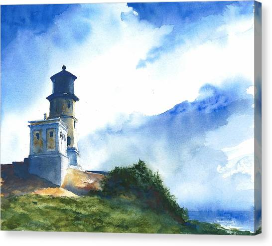Big Sky At Split Rock Lighthouse Canvas Print