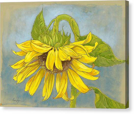Sunflowers Canvas Print - Big Sunflower by Tracie Thompson