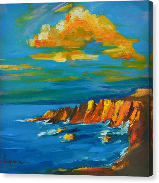 Big Sur At The West Coast Of California Canvas Print