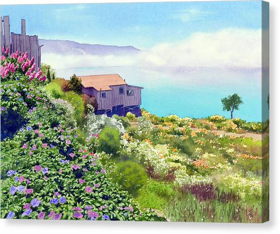 Big Canvas Print - Big Sur Cottage by Mary Helmreich