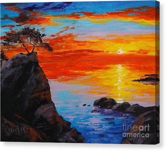Ocean Sunset Canvas Print - Big Sur Sunset by Graham Gercken