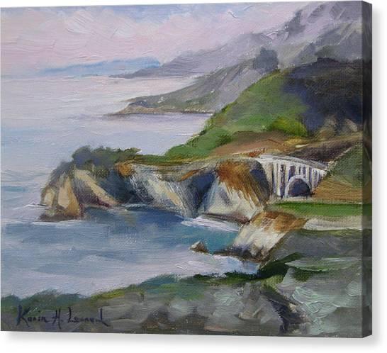 Bixby Bridge Canvas Print - Big Sur Sunset by Karin  Leonard