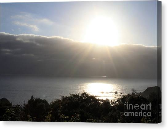 Sun Canvas Print - Big Sur Sunset by Linda Woods