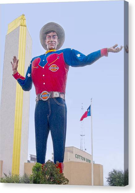 Big Tex And The Cotton Bowl  Canvas Print