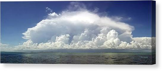 Big Thunderstorm Over The Bay Canvas Print